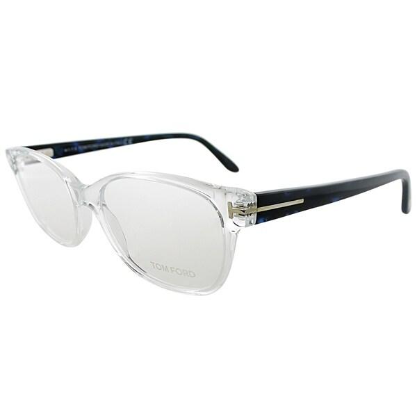 tom ford rectangle ft 5406 026 unisex crystal blue frame eyeglasses - White Frame Eyeglasses