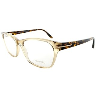 Tom Ford Rectangle FT 5405 045 Unisex Transparent Sand Frame Eyeglasses