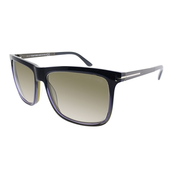 cddc674f28d20 Tom Ford Rectangle FT 392 92J Unisex Blue Roviex Frame Brown Gradient Lens  Sunglasses