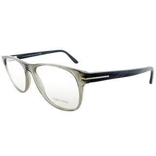Tom Ford Rectangle FT 5362 020 Unisex Transparent Grey Frame Eyeglasses