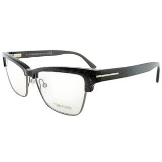 Tom Ford Cat-Eye FT 5364 020 Womens Striated Grey Frame Eyeglasses