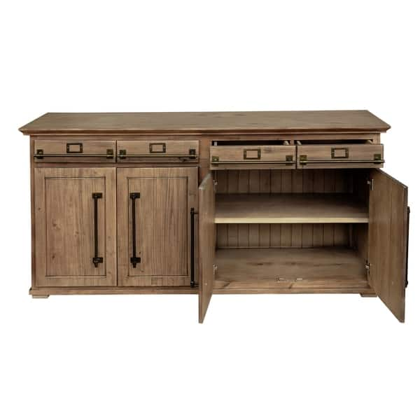 Nomad Rustic Light Brown Wood Buffet Free Shipping