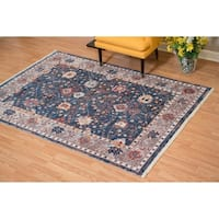 Westfield Home Moravia Pyrenese Distressed Navy Accent Rug - 2'7 x 4'3