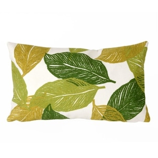 Liora Manne Cut Leaves Pillow (12 x 20)