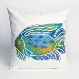 Liora Manne Coastal Painted Fish Pillow (20 x 20)