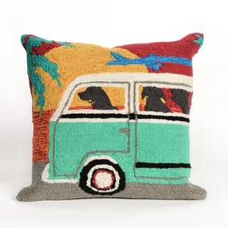 Liora Manne Beach Bus Pillow (18 x 18)