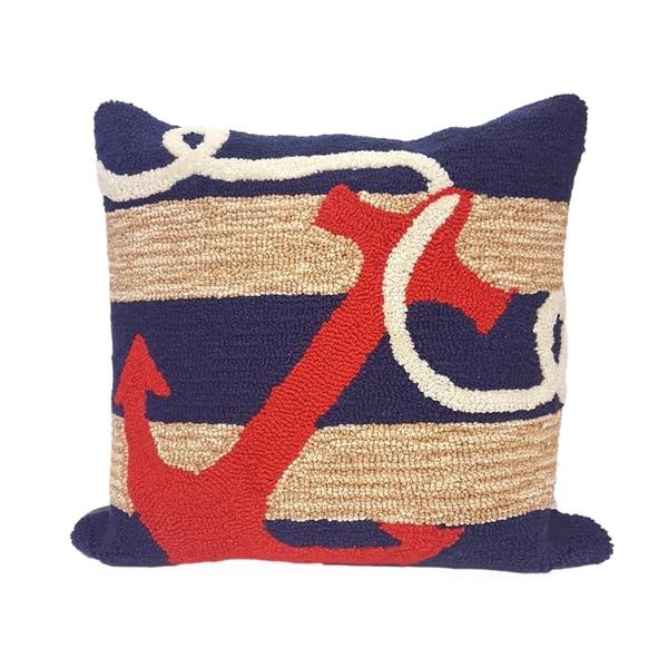 Liora Manne Ocean Hook Pillow (18 x 18)