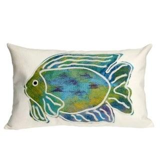 Liora Manne Painted Fish Pillow (12 x 20)