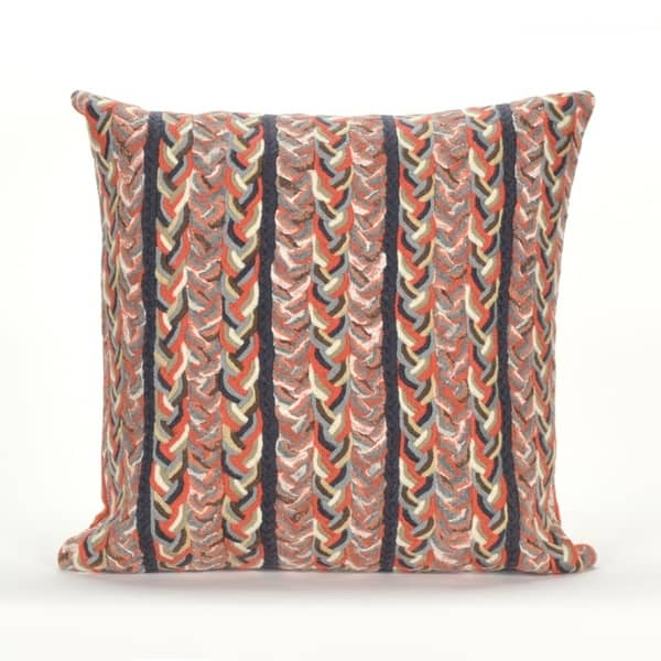 Liora Manne Textured Stripe Pillow 20 X 20 On Sale Overstock 19445528 Orange