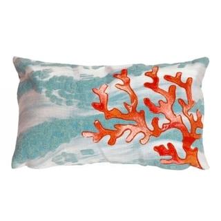 Liora Manne Tempest Coral Pillow (12 x 20)