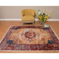Westfield Home Moravia Sahara Distressed Garnet Accent Rug - 1'10 x 2'9