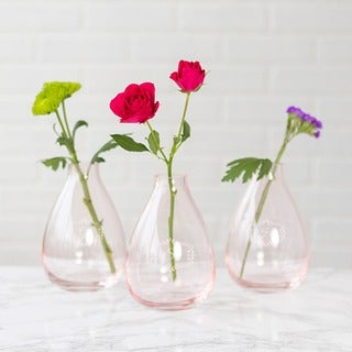 Personalized Blush Rose Glass Vase
