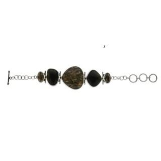 Pangea Mines Bronze Abalone Bracelet - Black/Brown