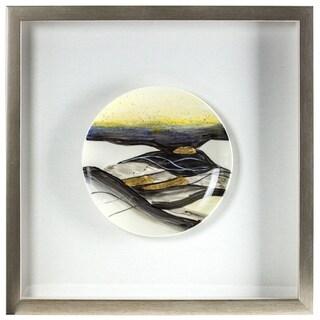 Decorative Ceramic Plate Framed Hanging Wall Art