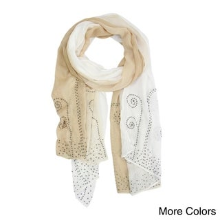Handmade Saachi Crystal Ombre Scarf (China)