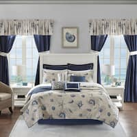Madison Park Essentials Westport Blue 24-piece Coverlet in a Bag