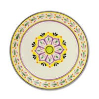 Majolica Ceramic Dinner Plates, 'Mexican Lavender' (Pair) (Mexico)