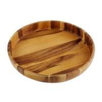 Wood Serving Bowl, 'Harmonious Nature' (Thailand)