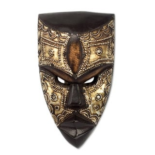 Handmade Mbara Hunter Wood Mask (Ghana)
