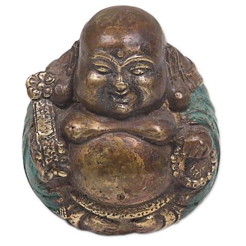 Bronze Sculpture, 'Welcoming Buddha'