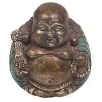 Bronze Sculpture, 'Welcoming Buddha' (Indonesia)