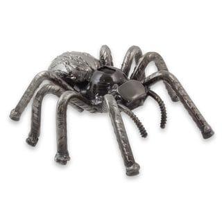 Upcycled Metal Sculpture, 'Rustic Tarantula' (Mexico)
