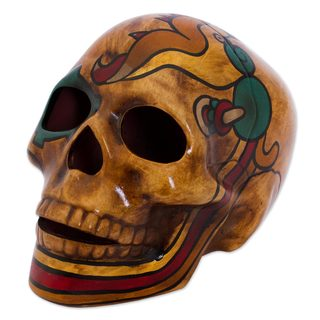 Ceramic Sculpture, 'Quetzalcóatl' (Mexico)