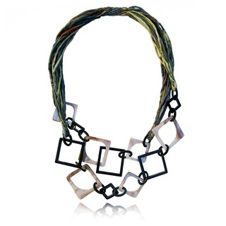 Mother of Pearl Silk Necklace