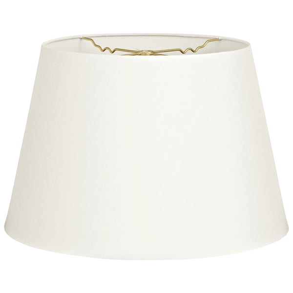 Royal Designs Tapered Shallow Drum Hardback Lamp Shade, White, 8 x 12 x 8.5