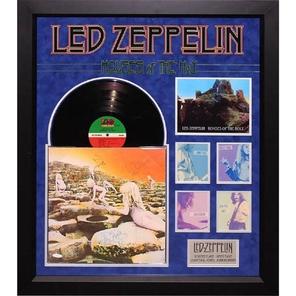 shop led zeppelin houses of the holy signed album free shipping today overstock 19445953. Black Bedroom Furniture Sets. Home Design Ideas