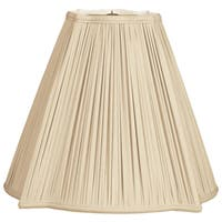 Royal Designs Fancy Square Gather Pleat Basic Lamp Shade, Beige, 6.75 x 16 x 13.25