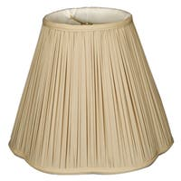 Royal Designs Bottom Scallop Gather Pleat Basic Lamp Shade, Antique Gold, 5 x 13 x 8.75 WALL
