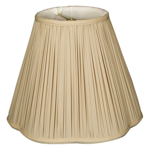 Royal Designs Bottom Scallop Gather Pleat Basic Lamp Shade, Beige, 5 x 13 x 8.75 WALL