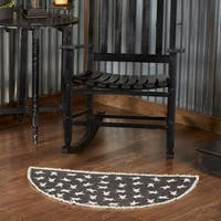 Black Primitive Star Rug - 3' x 5'