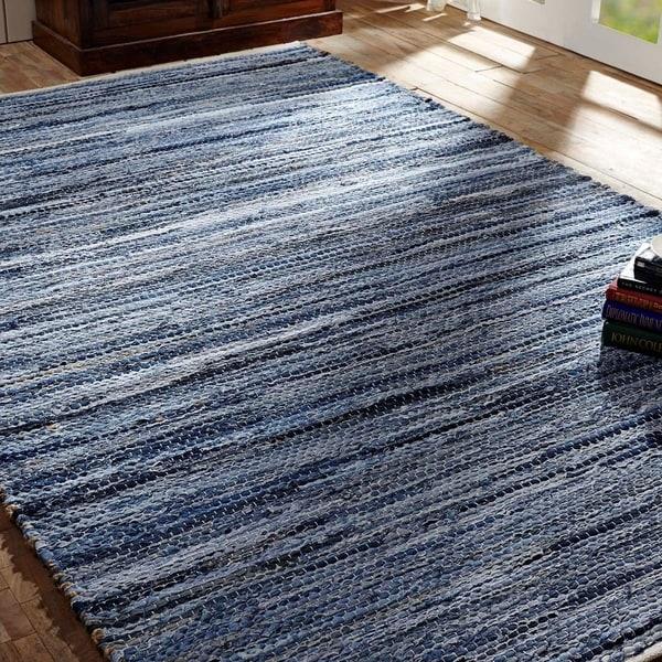 Denim Chindi Rag Rug: Shop Denim & Hemp Chindi/Rag Rug (5' X 8')