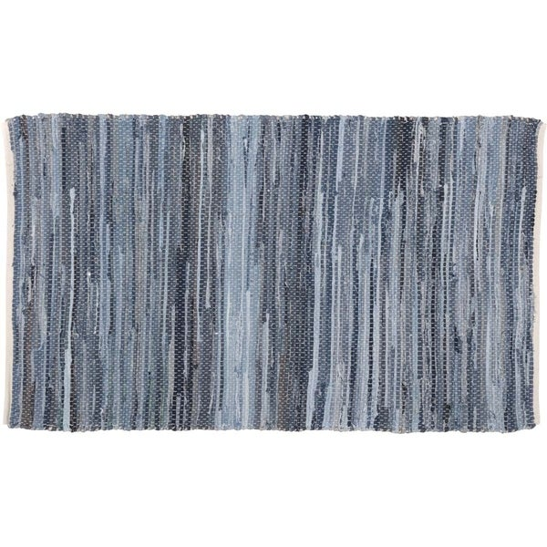 Denim Chindi Rag Rug: Shop Denim & Hemp Chindi/Rag Rug (3' X 5')