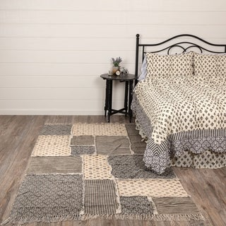 VHC Brands Elysee Grey Cotton Patchwork Area Rug (8' x 11')