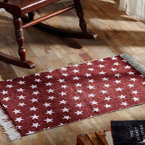 VHC Brands Multi Star Cotton Oval Rug (5' x 8')