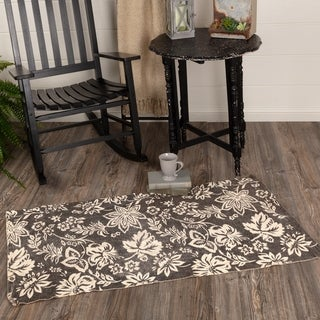 Farmhouse Flooring VHC Lilianna Rug Cotton Floral - Flower Stenciled Enzyme Washed Rectangle - 3' x 5'