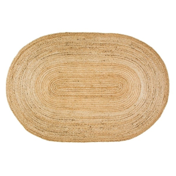 Shop Natural Jute Oval Rug (4' X 6')