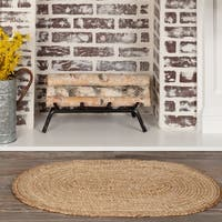 Natural Jute Oval Rug - 3' x 5'