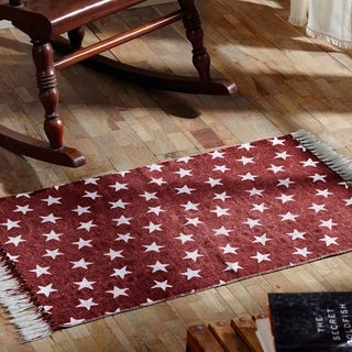 Multi Star Cotton Rug - 4' x 6' (2 options available)