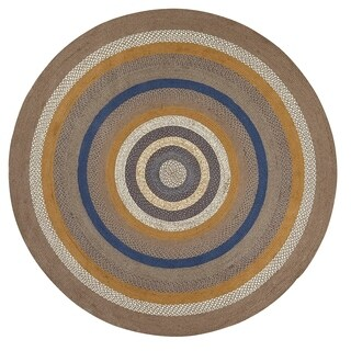 Riverstone Jute Rug (8' Diameter) - 8' diameter