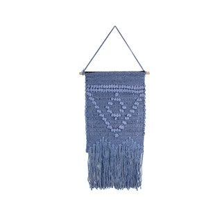 Marmont Hill - Handmade Blue Triangle Macrame Wall Hanging