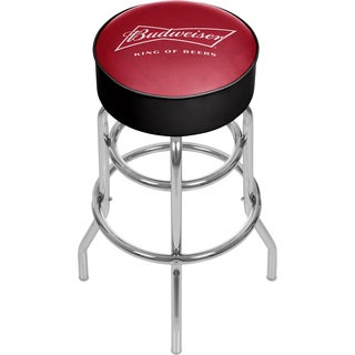 Budweiser Chrome Bar Stool with Swivel - Bow Tie