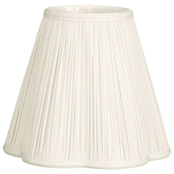 Royal Designs Bottom Scallop Gather Pleat Basic Lamp Shade, White, 6 x 12 x 10.28
