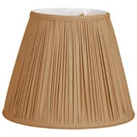 Royal Designs Deep Empire Gather Pleat Basic Lamp Shade, Antique Gold, 9 x 16 x 12.25
