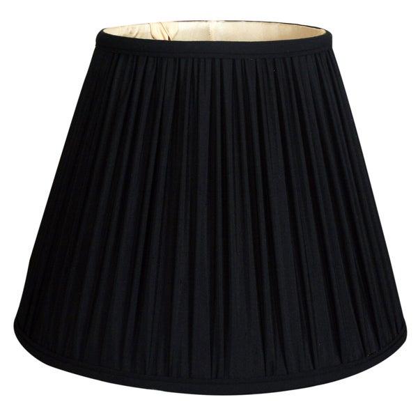 Royal Designs Deep Empire Gather Pleat Basic Lamp Shade, Black, 9 x 16 x 12.25