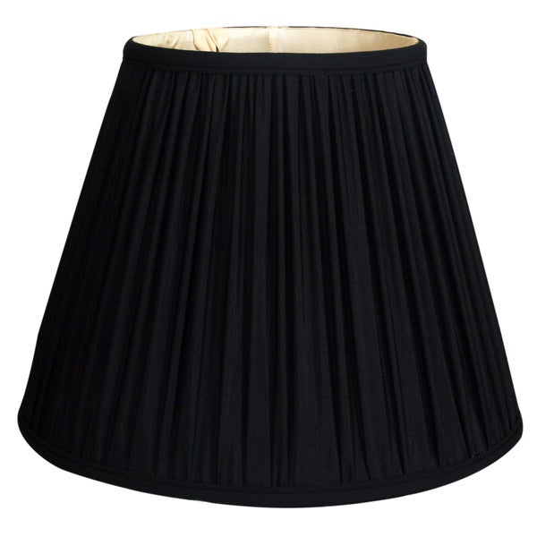 Royal Designs Deep Empire Gather Pleat Basic Lamp Shade, Black, 8 x 14 x 11