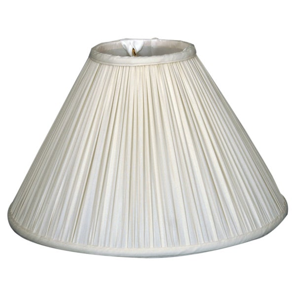 Royal Designs Coolie Empire Gather Pleat Basic Lamp Shade, White, 5 x 13 x 8